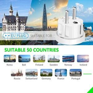 Image 5 - Enchufe de viaje UE Adaptador convertidor 250V AC cargador de viaje enchufe de pared con adaptador de hogar