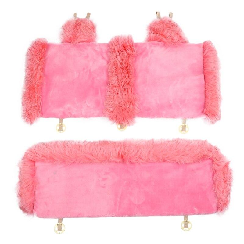 Housse de siège de voiture en laine hiver chaud Automobiles coussin de siège fourrure naturelle australien en peau de mouton Auto sièges couverture voitures accessoires de fourrure
