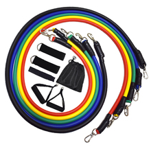 11pcs/set Resistance Bands Set Yoga Exercise Fitness Rubber Tubes Workout Bands Kit Home Gym Sports Excercise Fitness Equipment
