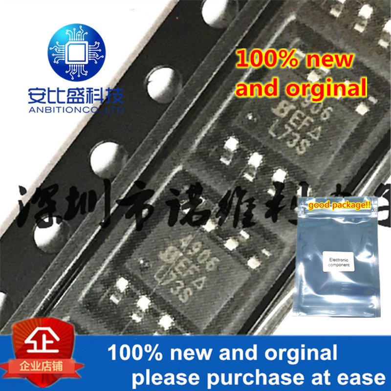 10pcs 100% New And Orginal SI4906DY-T1-E3 SOP-8 SI4906 N 4906 40V 5.3A MOS In Stock