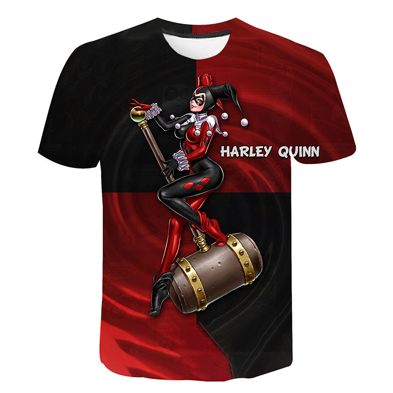 Ainiel Birds Of Prey T Shirt Suicide Squad 3D Print Clown Harley Quinn Tshirt Joker Summer T-Shirt Men Women Children Cool Tees