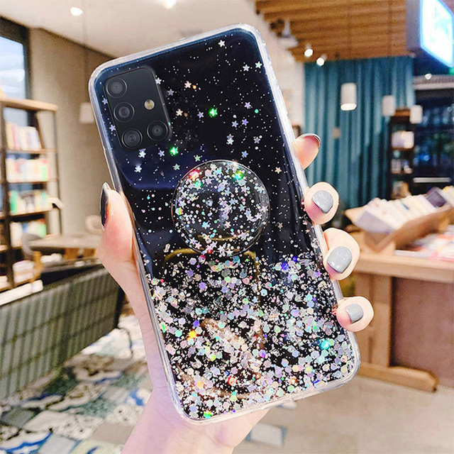 Bling Glitter Case For Samsung Galaxy A51 A52 Cases A50 A70 A71 A21s S20 Plus FE S21 Ultra S10 A32 A31 S9 A12 A72 A20e A41 Cover 3