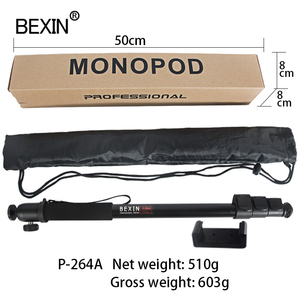 Image 5 - BEXIN New portable lightweight 47cm monopod aluminum camera stand P 264 witn phone clip for dslr camera Video