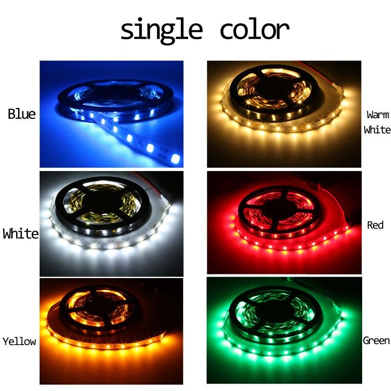 RGB LED Strip Light  SMD 2835 DC12V 1M 2M 3M 4M 5M NO Waterproof LED Light RGB Leds Tape Flexible Diode Ribbon Background Light