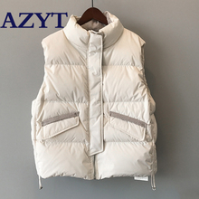 Coat Women Outwear Jacket Down-Vest AZYT Fashion Winter Female Thicken Stripe Cotton