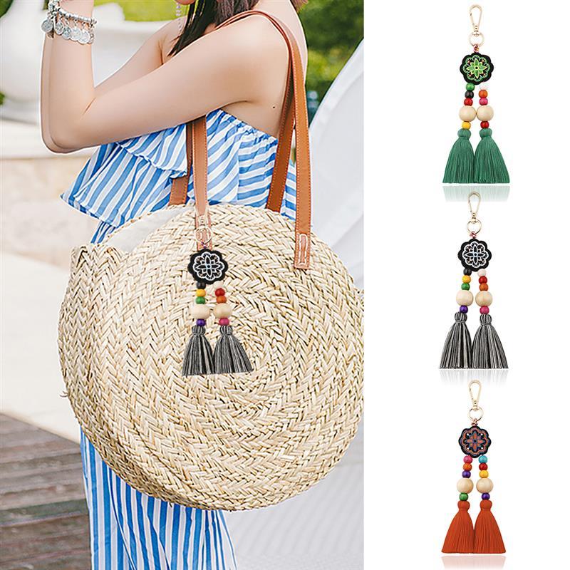 Ретро сумка с кисточками Шарм в стиле бохо, декоративный модный креативный подвеска с вышивкой брелок в народном стиле
