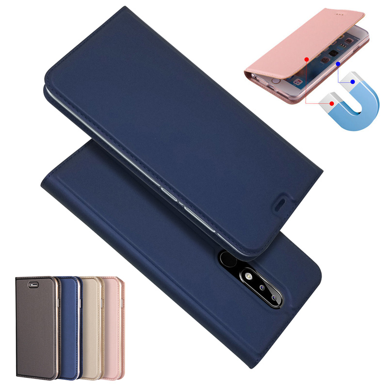 Magnetic Absorption Leather Flip Case Cases Cover For Nokia 3 5 6 8 Sirocco 7 1 2 2.1 6 X5 X6 X7 2018 5.1 3.1 6.1 7.1 8.1 Plus