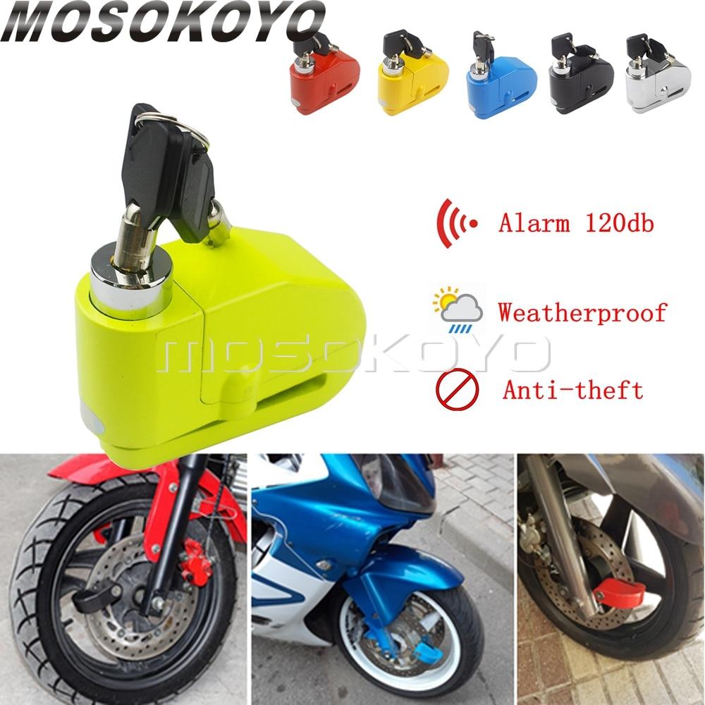 Motorcycle Sturdy Wheel Disc Brake Alarm Locks Security Anti Thief 120db Alarm Lock For SUZUKI KAWASAKI BMW YAMAHA KTM Scooters
