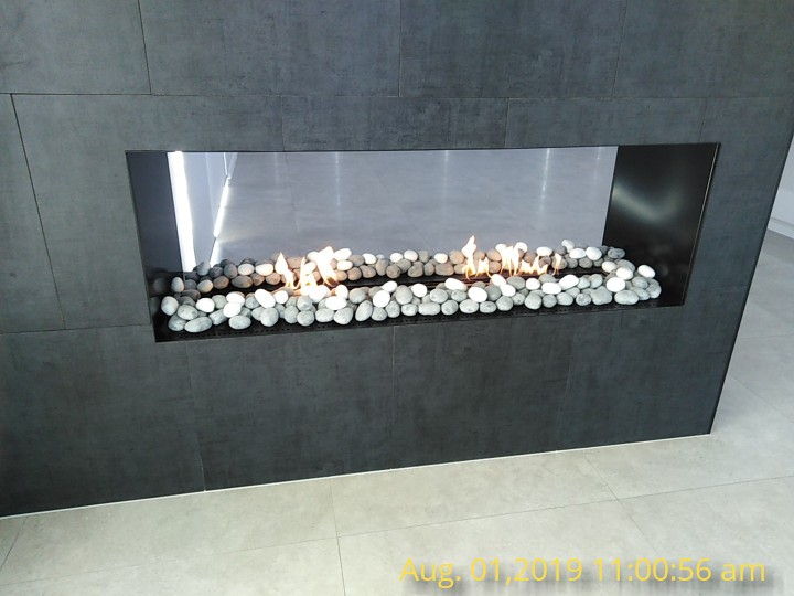 Wifi Real Fire Intelligent Smart Electric Ethanol Fireplace 60 Inch