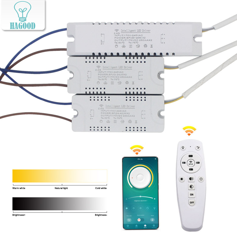 2.4G Idimmerable Led Power Supply For Downlight Intelligent Led Driver 2.4G Transformer With Remote App Control Driver