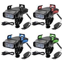 Luz da bicicleta lanterna led multifunsões 4 em 1 peça peça quantidade de estoque
