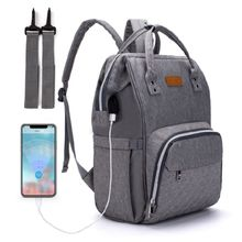 Mummy Nappy Diaper Bag Maternity Large Capacity Baby Care Nursing Backpack with Stroller Straps USB Charging Port