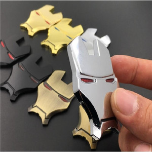 Image 5 - 3D Auto Chrome Metal Iron Man Car Emblem Stickers Logo Decoration The Avengers For Car Styling Decals Exterior Accessories