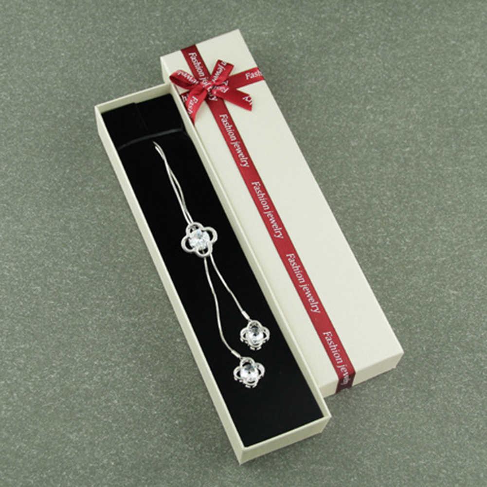 Femmes bijoux cadeau emballage boîte anneau boucles d'oreilles Bracelet collier bijoux organisateur porte-anneau bijoux affichage boîte plateau boucle d'oreille St