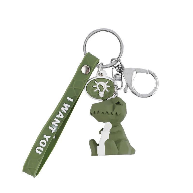 Ant Stuffed Animal Keychain Cute Cartoon Dinosaur Car Keybag Pendant Doll