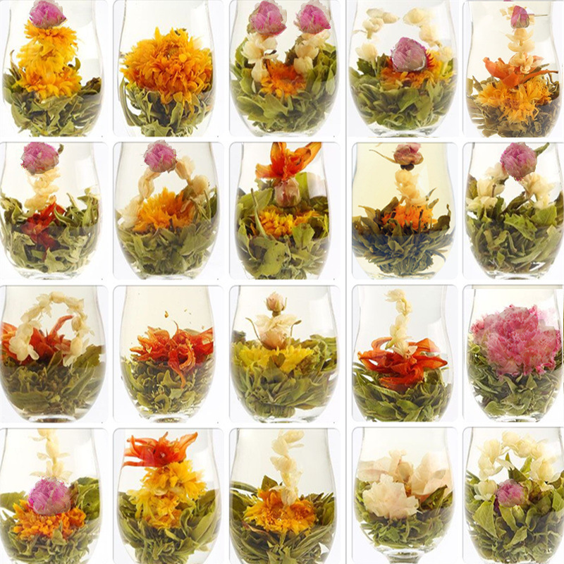 20 Kinds / bag China Blooming Tea Green Tea Ball Artistic Blossom Flowers Tea Chinese Blooming Flower Tea