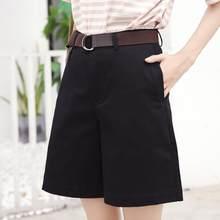 Short Bermuda pour femme, culotte taille haute, jambes larges, tenue ville, DV780