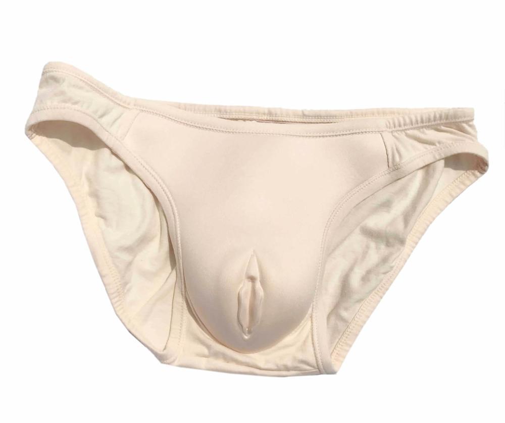 Men Hiding Gaff Panties Crossdresser Transgender Shaping Fake Vagina Camel Toe Briefs Body Shaping Products Panty