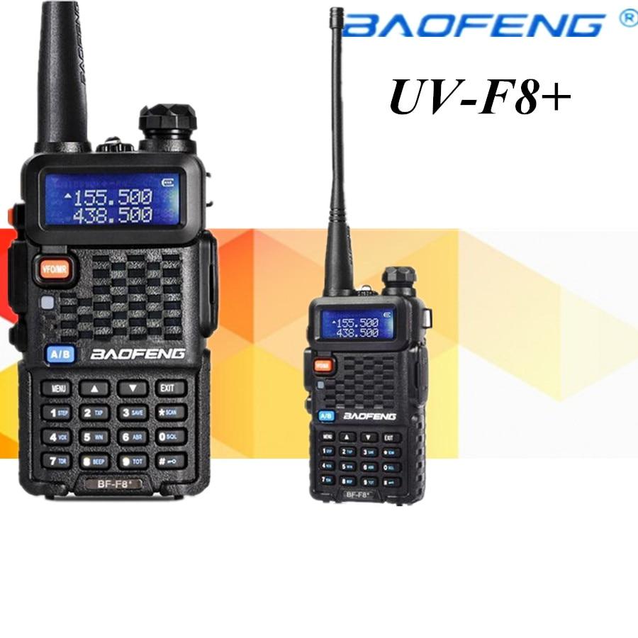 2 PCS Baofeng BF-F8+ Portable Walkie Talkie Dual Double Band Ham VHF UHF Radio Station Transceiver Boafeng Amador Woki Toki PTT
