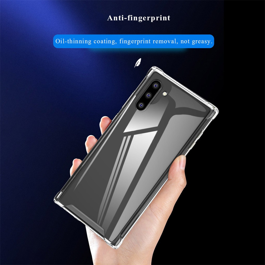 Clear Transparent Rubber TPU Case Cover For Samsung Galaxy Note 10 6.3Inch Phone Case Protective Coverpackage IncludesE30