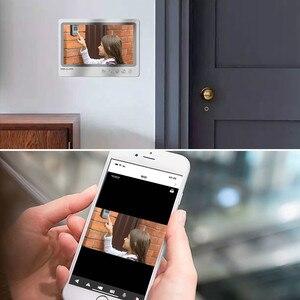 Image 5 - Videoportero con pantalla de 9 pulgadas, sistema de grabación de teléfono para puerta, WIFI, con cable, control remoto, RFID, envío gratis