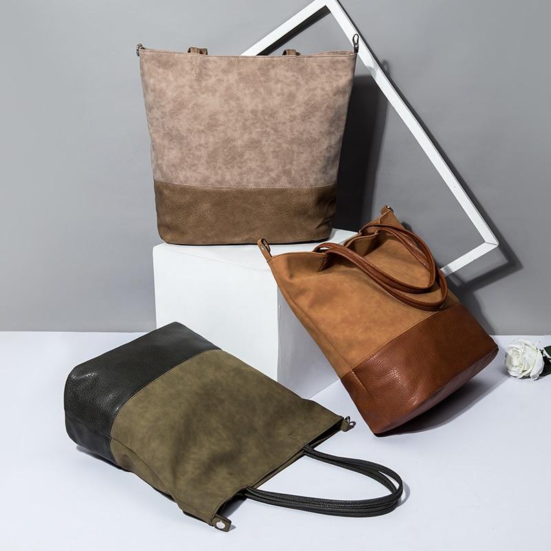 Дизайнерская большая сумка-тоут, кожаная женская сумка, сумки на плечо для женщин 2021, модные кожаные женские ручные сумки в стиле пэчворк, че...