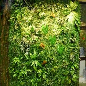 Image 3 - Painéis de parede de 2m x 1m, painéis de parede de flores artificiais, folhas tropicais de plástico, decoração de casa, casamento, faça você mesmo acessórios