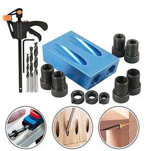Locator Jig-Kit Pocket-Hole Woodworking Drill-Bits Angle-Drill 14pcs/Set 15-Degree