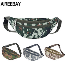 AIREEBAY Military Tactical Fanny Pack Camouflage Men Waist Bag Hiking Camping Climbing Chest Bag Hunting Outdoor Travel Bag