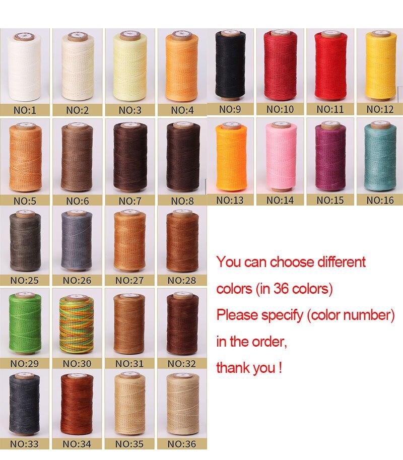 Прочная вощеная нить 150D, 50 метров, 36 цветов, шнур для рукоделия, инструмент для рукоделия, плоская Вощеная швейная нить