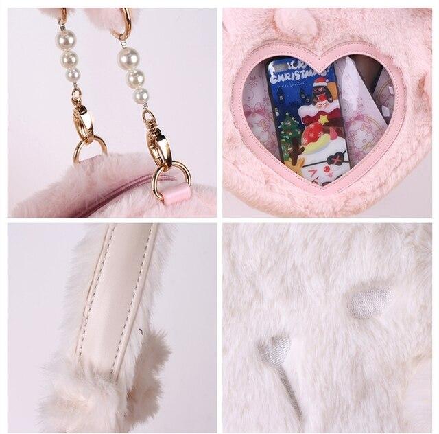 Купить love lolita сумка милый кролик плюшевая kawaii сумка мягкая картинки цена