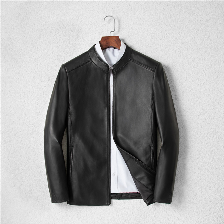 2020 Spring Autumn Genuine Leather Jacket Men 100% Sheepskin Coat Short Bomber Jacket Chaqueta Cuero Hombre KJ3299