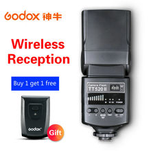Godox Camera Flash TT520II with Build-in 433MHz Wireless Signal for Canon Nikon Pentax Olympus Sony DSLR Cameras Speedlite
