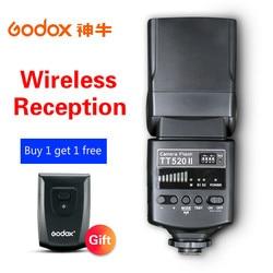 Godox Camera Flash TT520II with Build-in 433MHz Wireless Signal for Canon Nikon Pentax Olympus Sony DSLR Cameras Speedlite