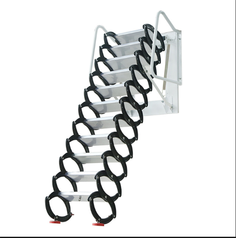 Household Tool Set Outdoor Wall Hanging Retractable Staircase Manual Folding Ladder Portable Telescopic Stair 2.5-3M