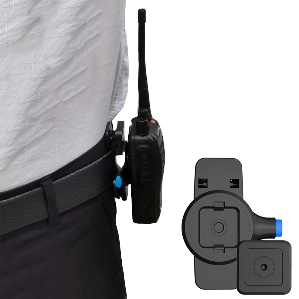 Portable Walkie Talkie Belt Clip Bracket Snap Closure Running Quick-release Waist Clip For Security Staff Patrol Duty