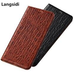 На Алиэкспресс купить чехол для смартфона luxury ostrich pattern genuine leather phone case for asus zenfone max pro m1 zb602kl/zenfone max m1 zb555kl magnetic flip case