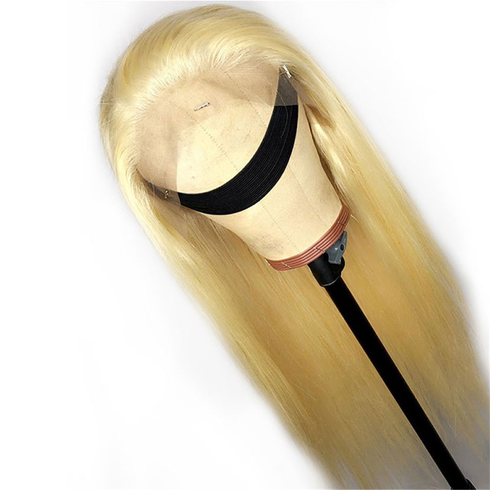 1b 613 Blonde 13x4 Lace Front Wigs Pre Plucked Brazilian Remy Human Hair Wigs For Black Women Baby Hair Silky Straight Eseewigs