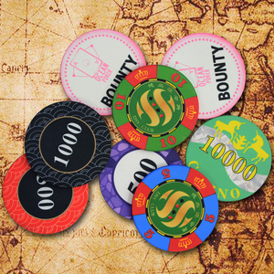 Image 2 - Customize Ceramic Chips Texas Poker Chips Professional Casino Poker Chips Set Round Casino Coin Customizable Party Event Souveni