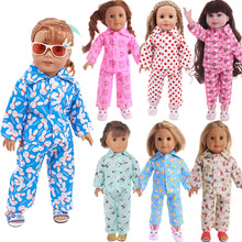 Doll-Clothes Pajamas American-Doll Our-Generation Born 18inch Girl's Baby for 43cm 43cm