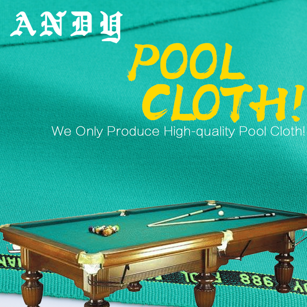 ANDY 988 Define Professional Billiard Cloth For 80% Wool 20% Nylon High Quality Professional Billiard Accessories For Tournament