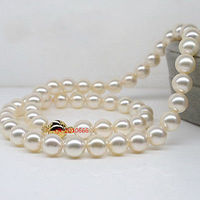 hot sale Women Bridal Wedding Jewelry >>round AAAAA Luster 179 10 mm REAL NATURAL south sea white pearl necklace