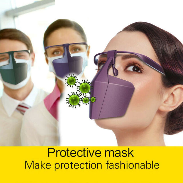 Reusable Antiviral Face Shield Isolated Mask Plastic Anti-fog Seal Mouth Hood Protective Mask 1