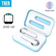 TRER X26 Bluetooth Earphones TWS 5.0 Mini in Ear Wireless Earbuds Touch Headset Pop-up Hands-Free Earpieces Deep Bass Headphone