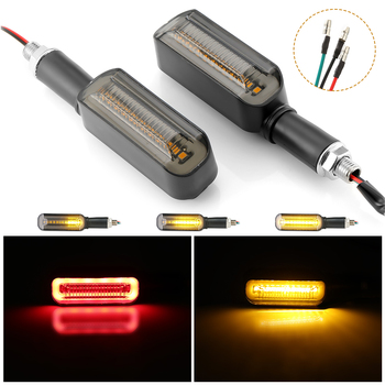 12V Motorcycle LED Turn Signal DRL Lights Flowing Water Blinker Flashing Indicator Tail Stop Signal Lamp Motorcycle Blinker 2020