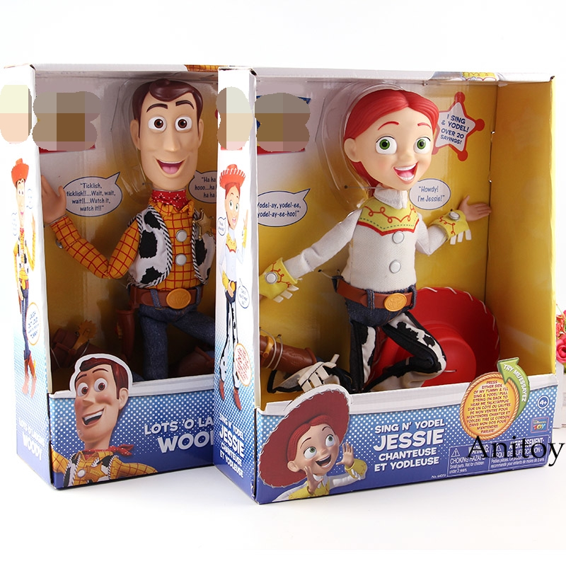 Story Talking Woody And Jessie Figure Action Pvc Collection Model Kids S For Children Doll Toys
