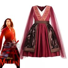 Mu-lan kostium dla dziewczynek fantazyjne Vintage chiński starożytny Dynastic sukienki dla dzieci śpiąca królewna strój Halloween księżniczka przebranie tanie tanio MUABABY COTTON Poliester Satin Mesh Połowy łydki V-neck Dziewczyny REGULAR Bez rękawów Chiński styl Pasuje prawda na wymiar weź swój normalny rozmiar