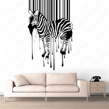 Zebra Pattern Wall Sticker Wall Stickers Home Living Room Removable Decor Wall Decals Fashion Decal Creative Stickers LW609 stylish zebra and sea mew pattern removeable wall stickers
