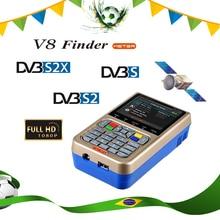 цена на 3.5 inch LCD V8 Finder Meter DVB-S/S2 Digital Satellite Finder HD H.265 MPEG-4 DVB S S2 Satellite Meter Full 1080P FTA Satfinder