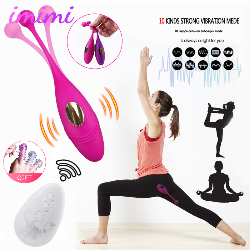 Wireless Remote Control Vibrator Vaginal Ball G Spot Clitoris Stimulator Silicone Dildo Vibrators Panties Sex Toys For Women